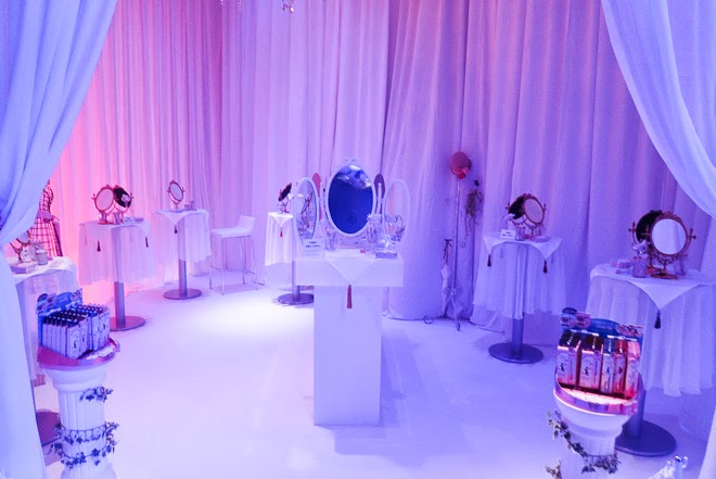 Test & Experience corner at Creer Beaute Sailor Moon Launch