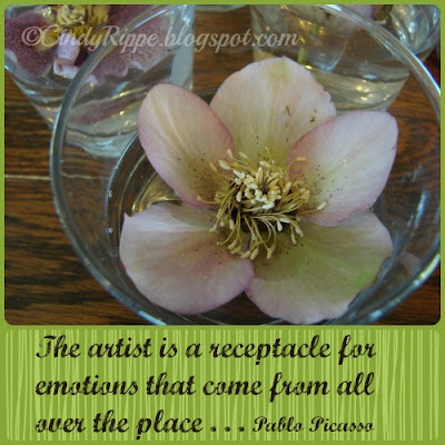 Lenten Rose, Helleboras, Floating Flowers, Emotions, Changes, Pablo Picasso quote, Florals-Family-Faith, Cindy Rippe, Beauty inside a flower