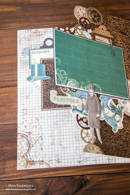 @cutecut @mila_valentova #steampunk #scrapbooking #scrap #скрап #скрапбукинг #альбом #kaisercraft #Time machine #Betsy's Couture #страничка #album #mila_valentova