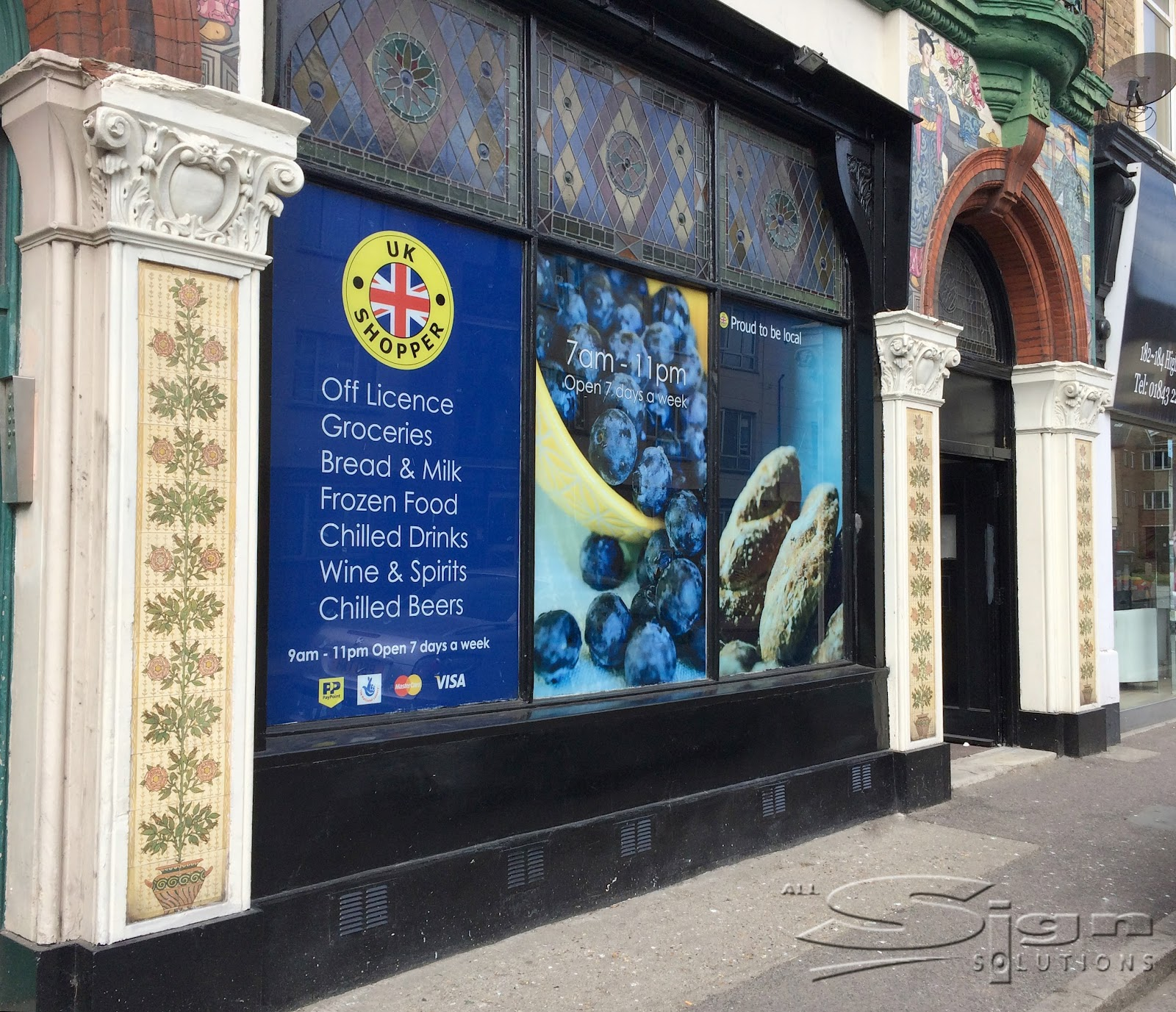Uk Shopper Window Graphics All Sign Solutions Signs