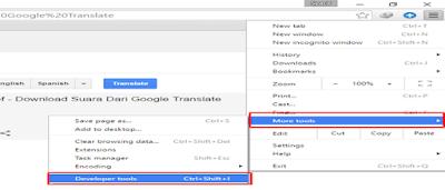 Cara Download Suara Dari Google Translate (Format mp3)