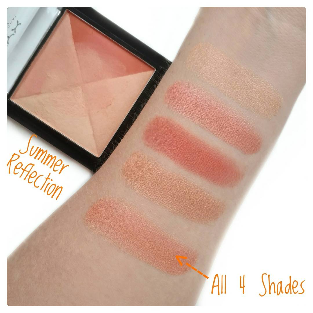 NYX Away We Glow Summer Reflection swatches