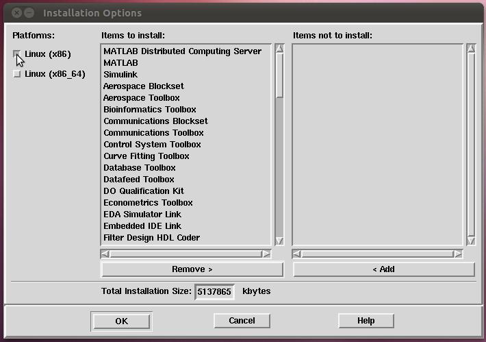 Matlab linux x86