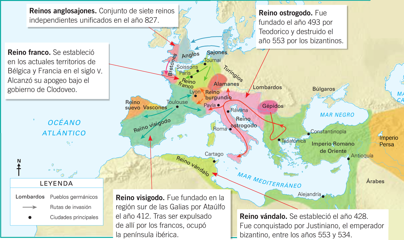 Mapa Europa Siglo Ix.Social Site Sfb 2do Ano Mapa Del Europa Siglos V Ix