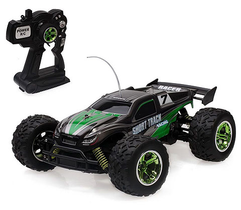 Black and Green 4x4 Remote Control Truggy