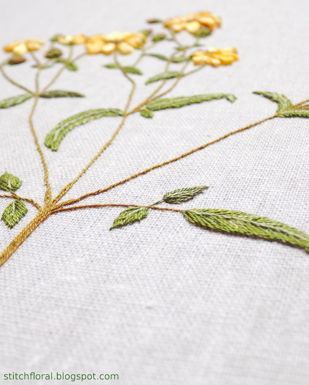 hand embroidery wild herb