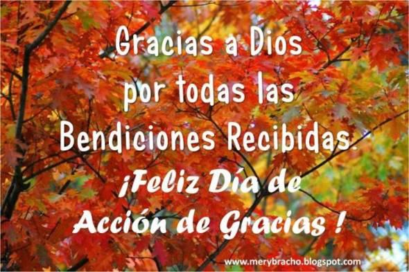 Postal Feliz Día de Acción de Gracias. Feliz Día de Acción de Gracias. Postales Cristianas. Gracias a Dios por sus bendiciones. Disfruta de un buen día de gracias. Dedicatoria en día de acción de gracias noviembre 2012
