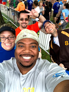 BroadStreetRun - Prerace selfie with friends