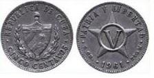 5 cents - Cuba - 1961