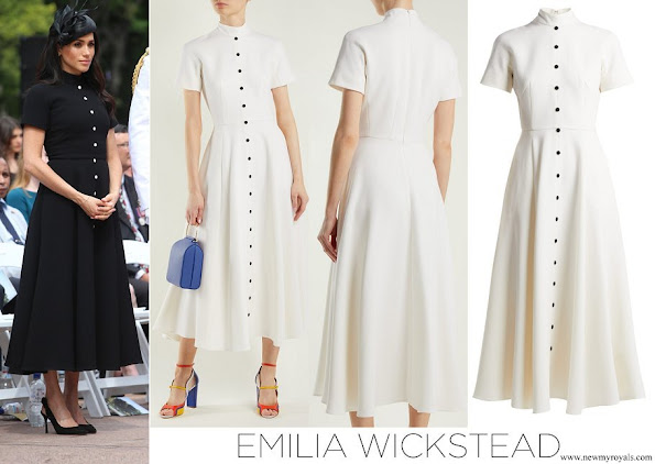 Meghan Markle, wore an elegant Emilia Wickstead wool crepe dress