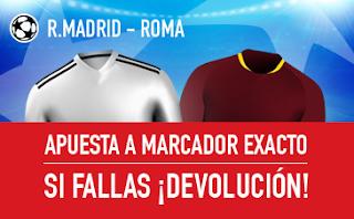 sportium Promocion champions Real Madrid vs Roma 19 septiembre