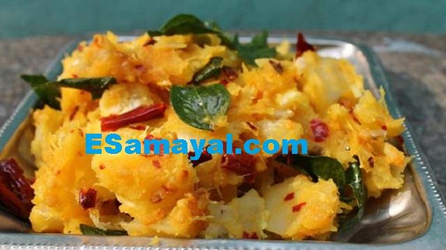 மரவள்ளிக் கிழங்கு பொரியல் செய்முறை / Tapioca Rice Recipe !