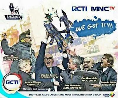 RCTI Pemegang Hak Siar Liga Inggris Musim 2016-2019