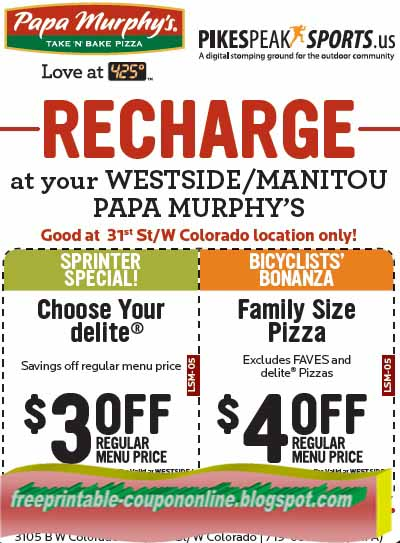 graphic relating to Papa Gino's Printable Coupons referred to as Papa murphy coupon codes 2018 - On the web Price reduction