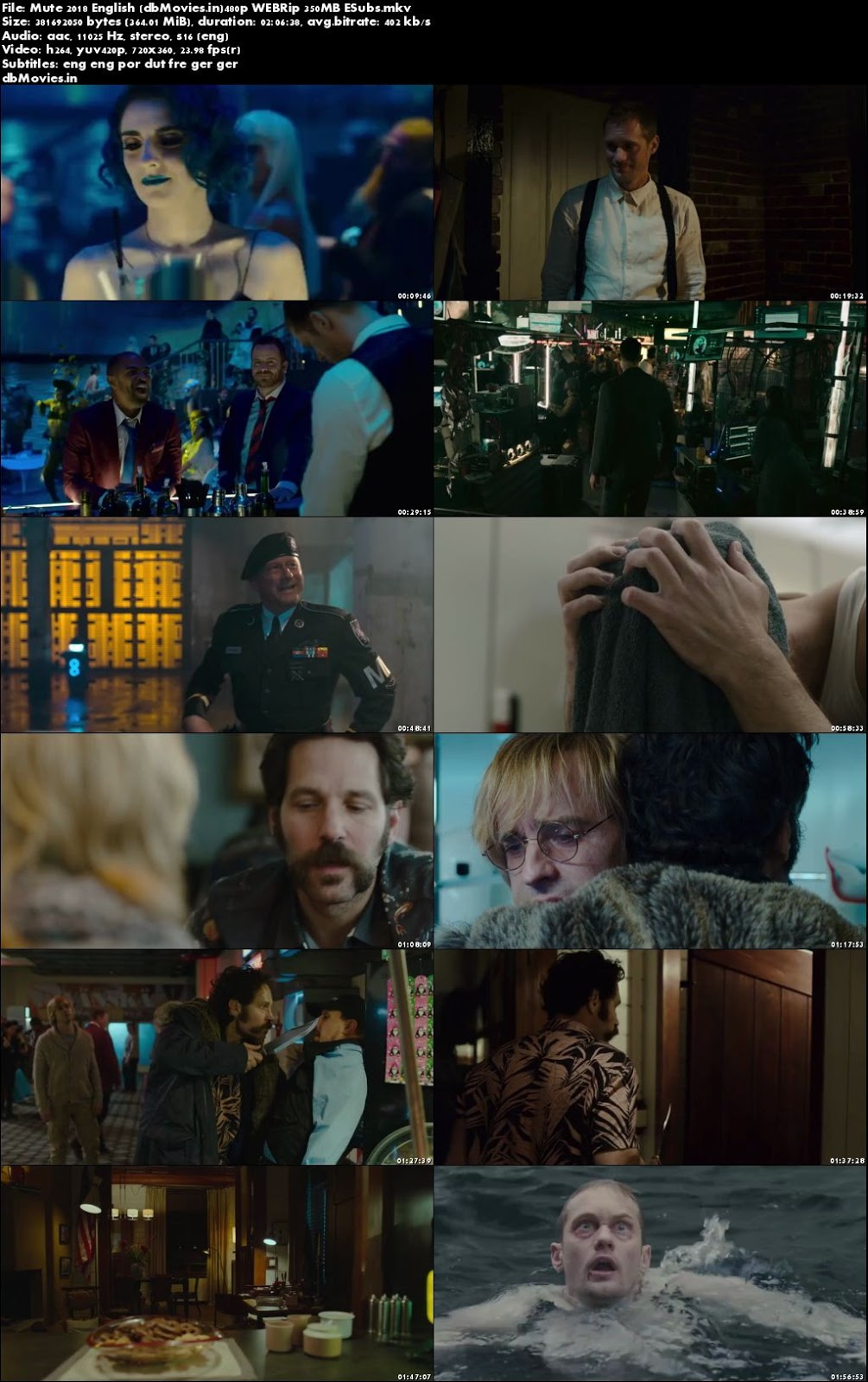 Poster Mute 2018 Download Full Movie English Free 300Mb