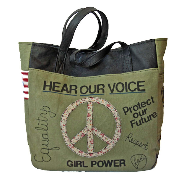 Activist Totes by Uptown Redesigns