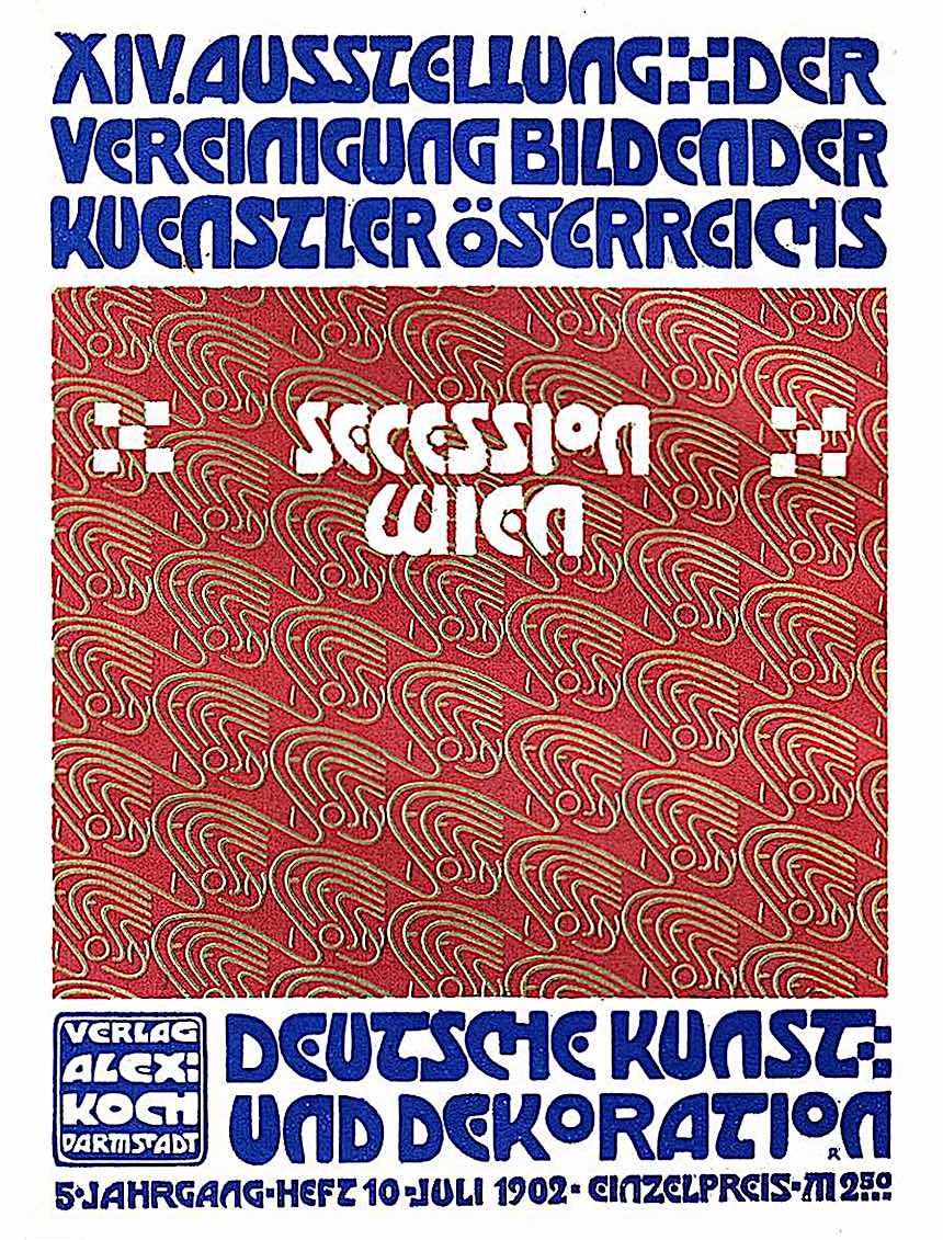 Alfred Roller poster 1902, XIV Ausstellung der Vereinigung Bildener Kuenstler Osterreichs