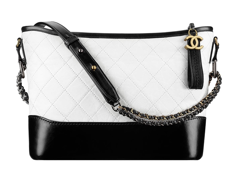 Chanel Gabrielle Hobo Bag in Black and White