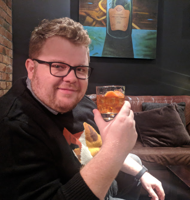 A Grown-Up Festive Weekend in Ouseburn - old fashioned cocktail in the hotel du vin bar