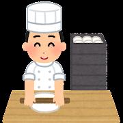 パン職人のイラスト(男性)