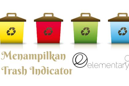 Menampilkan Trash Indicator di Panel Elementary OS