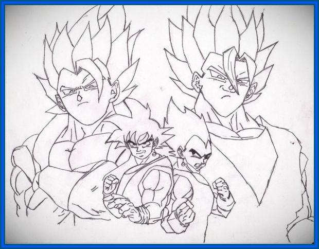 Todas Las Fases De Goku Para Colorear: NOMIRESATRÁS: Colorear