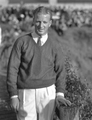 Golfer Craig Wood at the Los Angeles Open in the 1930s