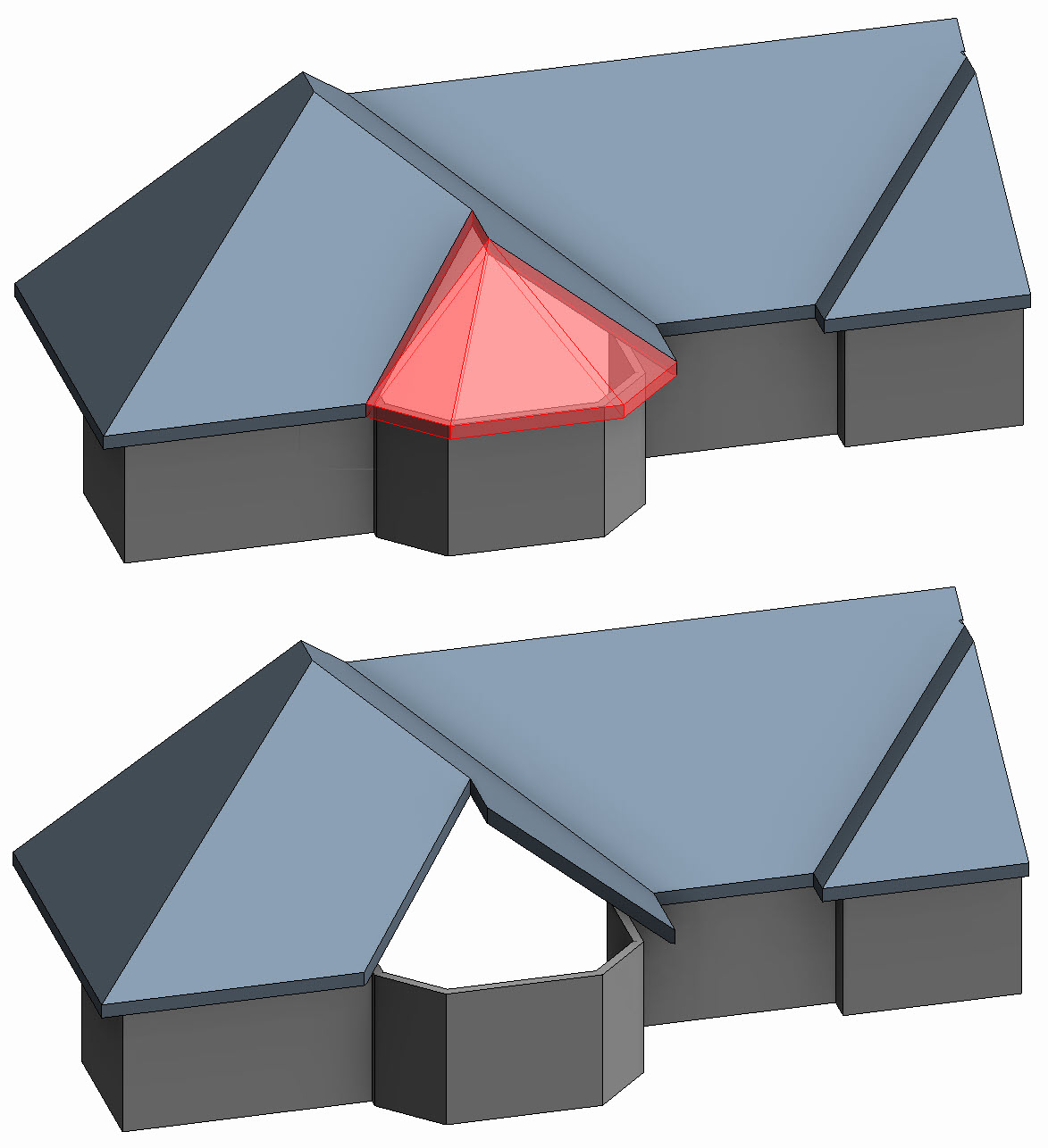 Revit Oped Five Minutes With Shape Editing A Bay Roof