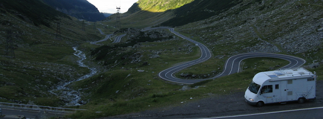 Carretera Transfăgărăşăn, als Càrpats Meridionals (Romania)