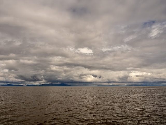 Photo of clouds over Scotland as the wind got up on the Solway Firth on Monday afternoon