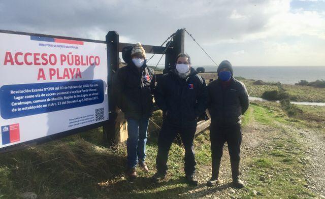Fijan primer acceso público a playa en Carelmapu