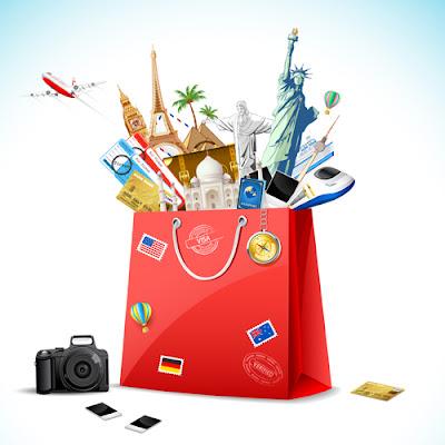 vectores fondos de viajes