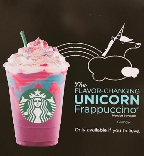 troppo bello per essere vero: starbucks lancia il frappuccino all'unicorno