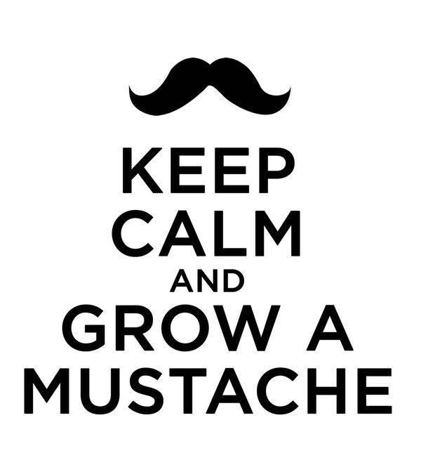 keep calm mustache