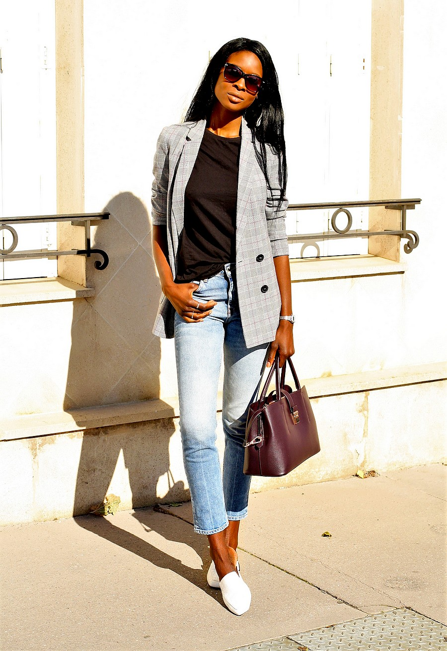 inspiration-look-working-girl-casual-chic-blazer-carreaux