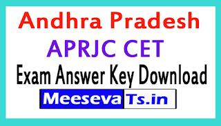 APRJC CET Exam Answer Key Download 2017