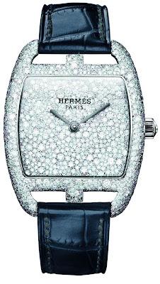 "Hermes Cape Cod Tonneau ""Snow Setting"" Limited Edition watch"