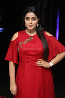 Poorna in Maroon Dress at Rakshasi movie Press meet Cute Pics ~  Exclusive 128.JPG