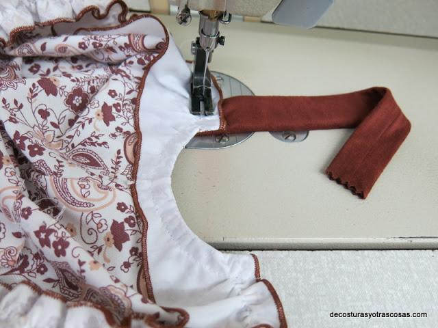 como coser los tirantes en un vestido