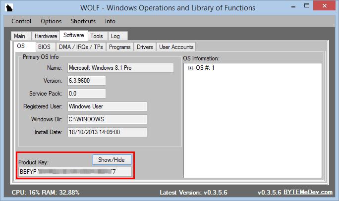 trovare proprio product key windows 10