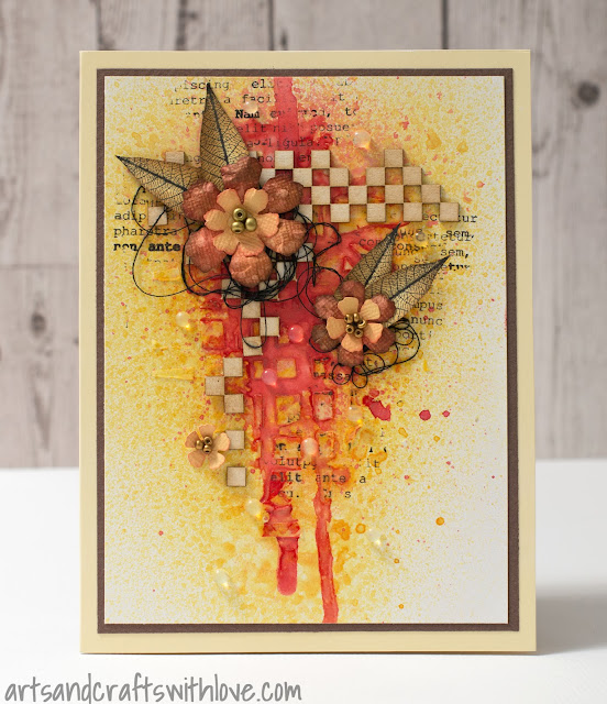 Cardmaking: Flowers in mixed media style