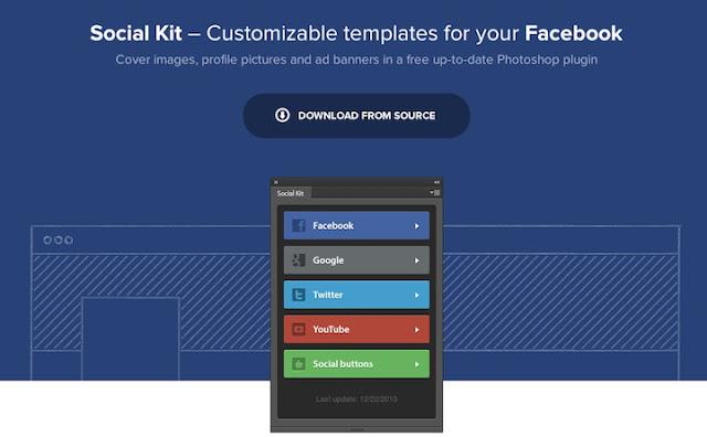Plugin Photoshop para diseñar perfiles de redes sociales 2016