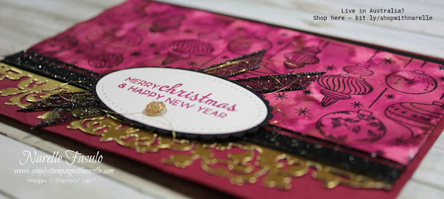 Make the most amazing Christmas Cards with the Beautiful Baubles stamp set. See it here - http://bit.ly/BeautifulBaubles