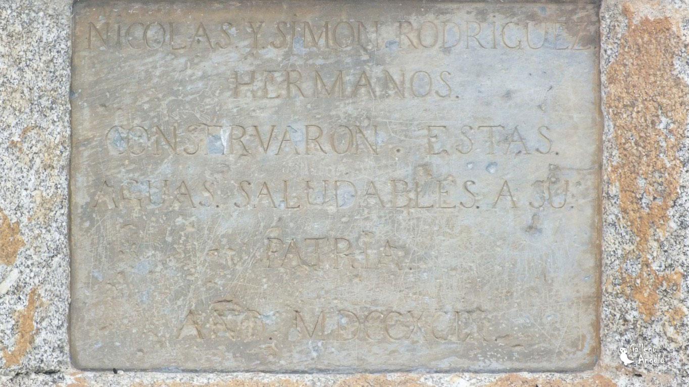 Detalle Inscripción del caño de Montejo