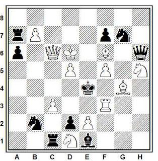 Problema de mate en 2 compuesto por Valery I. Rezinkin (Schach, 2004)