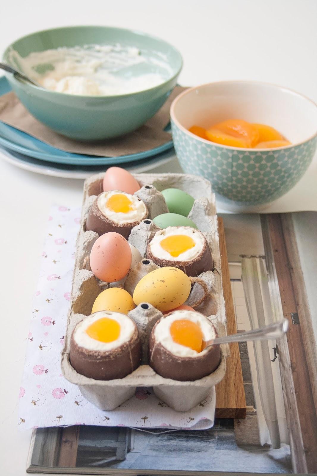 Uova di cioccolato alla coque per Pasqua