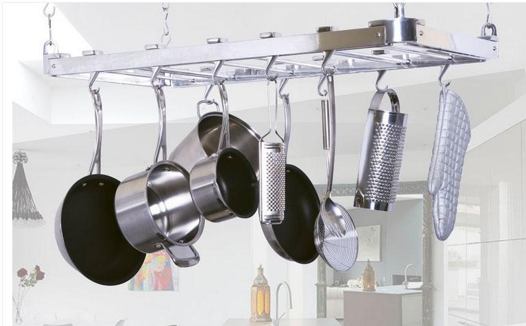Rack para panelas da Casadicor na Cozinha do Quintal