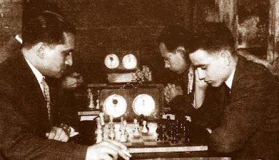 Partida de ajedrez Carreras-Travesset, Social 1957
