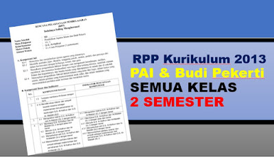 Download RPP PAI K13 REVISI SD SEMESTER 1 DAN 2