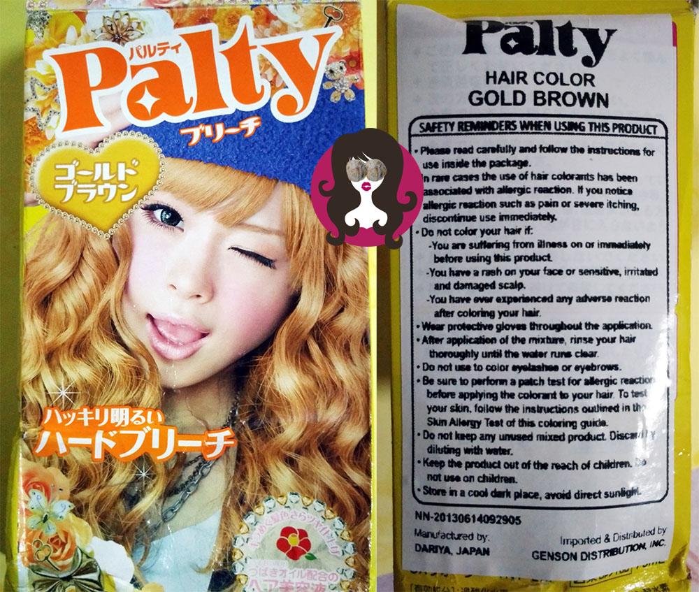 Piaya Diary Palty Creamy Hair Dye In Hard Bleach Gold Brown Love It